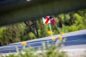 Wypadek kolarski na Nowy Targ Road Challenge